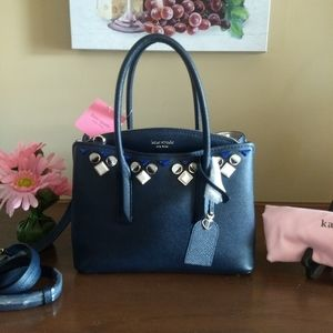 Kate Spade Margaux Jeweled Blazer Blue Satchel